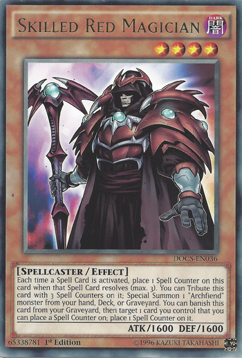 Skilled Red Magician