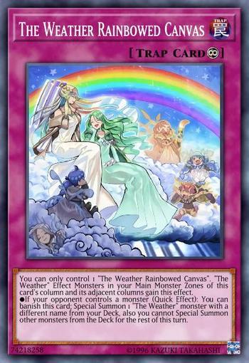 The Weather Rainbowed Canvas